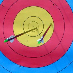 Pwtwang! Archery, yesterday.