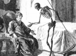 The Grim Reaper chats to a diabetic, yesterday