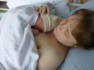 All back together again, Mummy finally gets a cuddle
