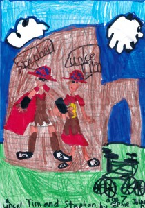 The Roman Rumble, as rendered in felt pen by my niece, yesterday