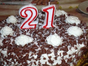 "I couldn't find a picture of a cake with ""25"" on it. Sorry."