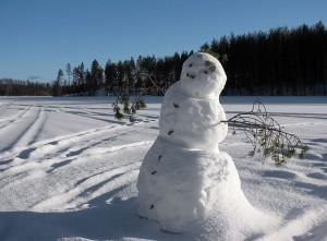 A snowman, yesterday
