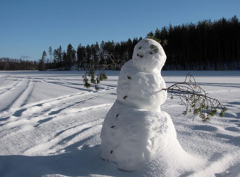 A snowman, yesterday