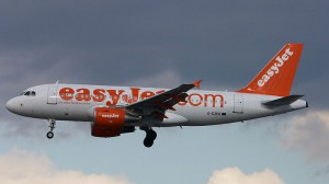 An Airbus A319-111 in easyJet livery and needless pictorial filler