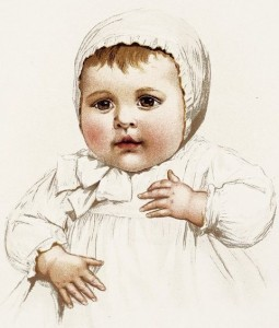 "A portrait of an infant wittily entitled ""A Portrait of an Infant"""