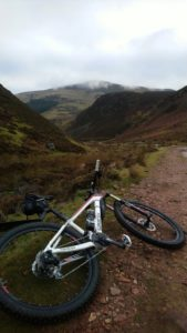 A mountain bike near a mountain