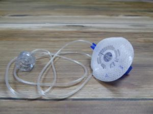 An infusion set, yesterday